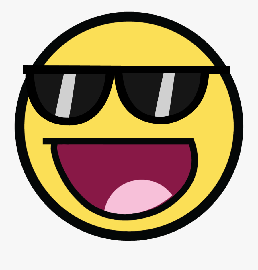 Awesome Clip Art Download Image - Awesome Face With Sunglasses, Transparent Clipart