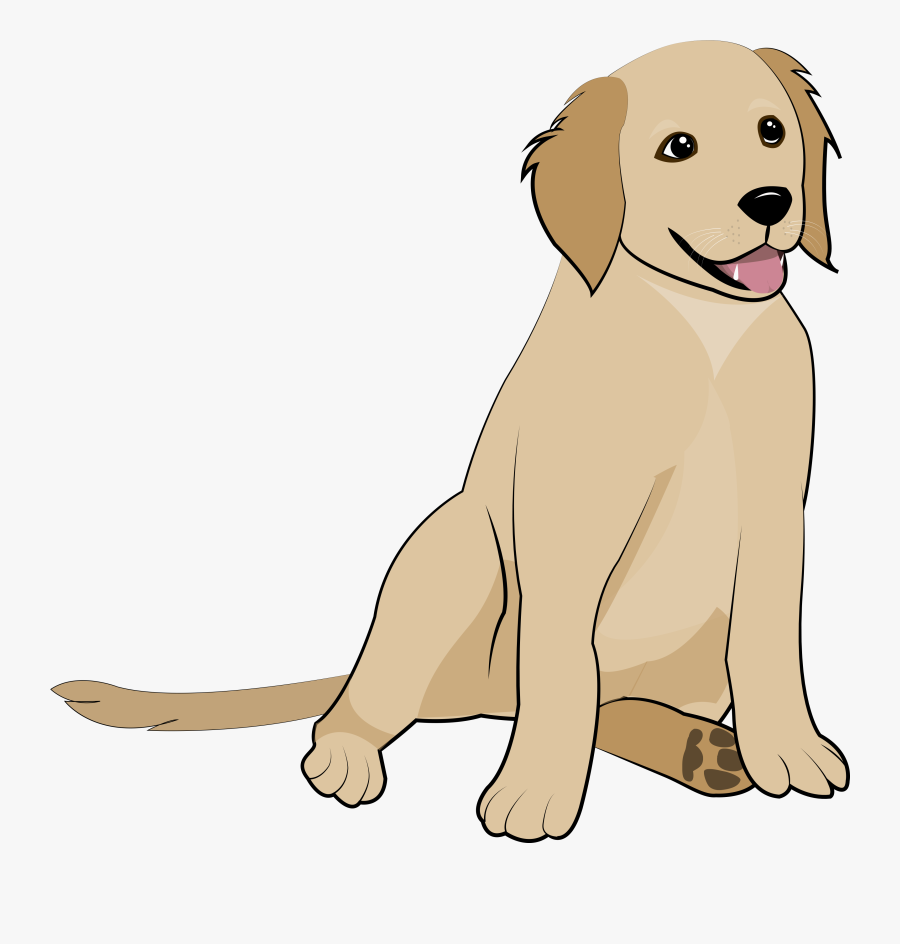 Clip Art Golden Retriever Tattoo - Golden Retriever Puppy Clipart, Transparent Clipart