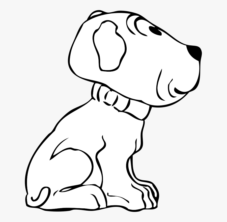 Transparent Golden Retriever Png - Drawing Of A Puppy Side, Transparent Clipart