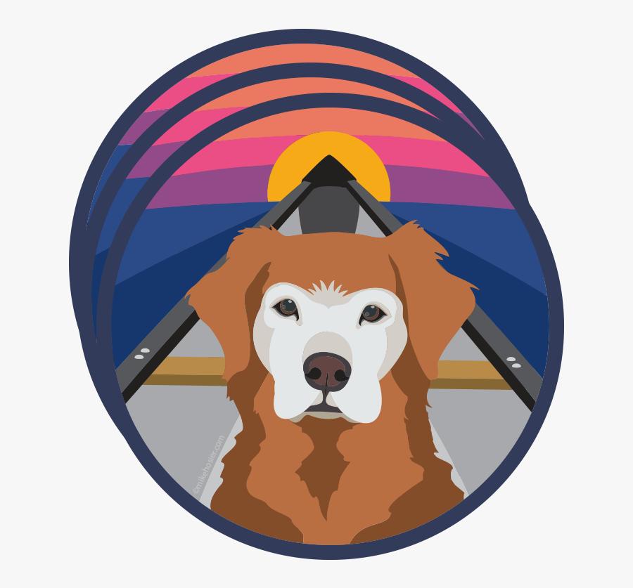 Golden Retriever Adventure Dog Stickers - Adventure Dog Stickers, Transparent Clipart