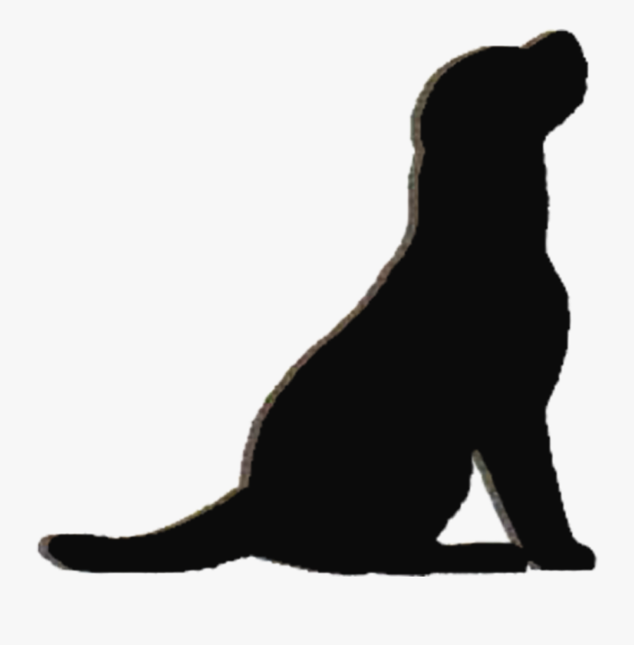 Labrador Retriever Puppy Silhouette Kennel Clip Art - Black Cat, Transparent Clipart