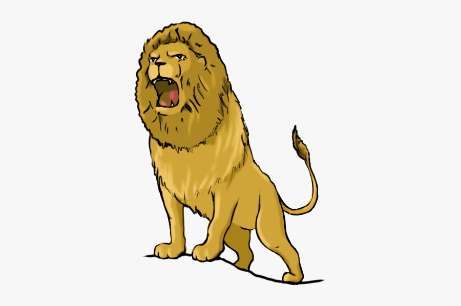 Lion - Roaring - Drawing - Draw A Lion Roaring, Transparent Clipart