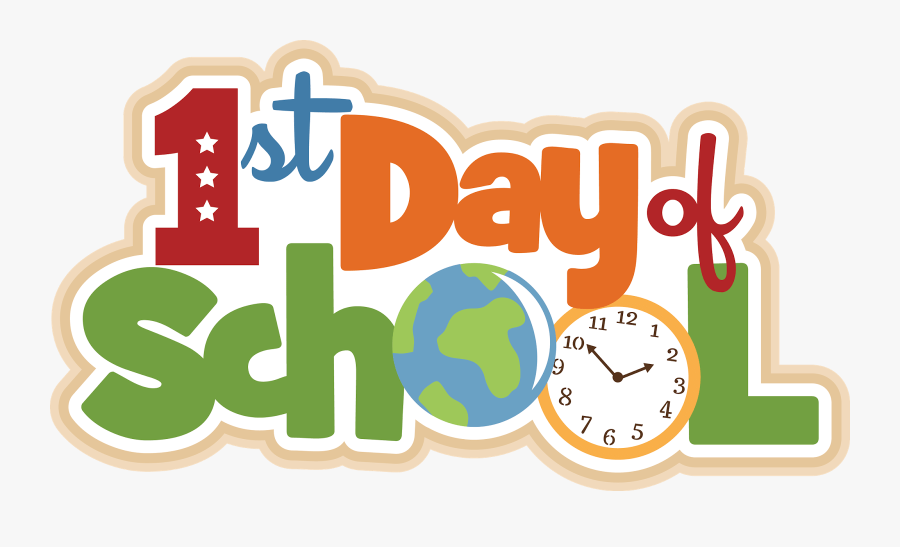 1st Day Of School 2019, Transparent Clipart
