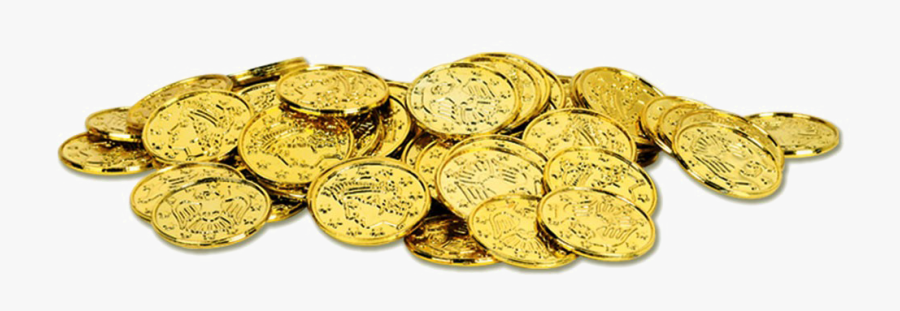 Gold Coin Png Hd - Pirate Gold Coins Png, Transparent Clipart