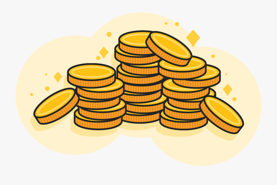 Large Pile Of Gold Coins - Pile Of Gold Coins Clipart, Transparent Clipart