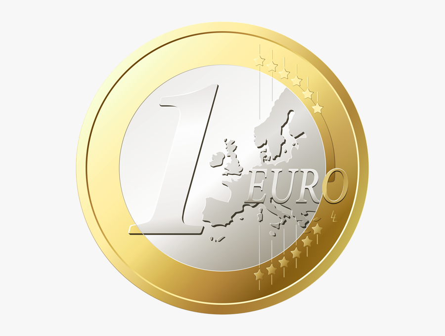 Gold Coins Png Image - One Euro Png, Transparent Clipart