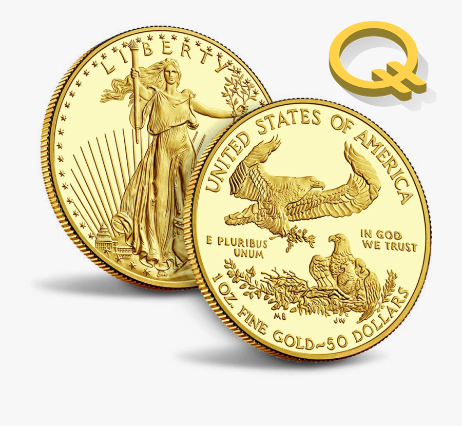 Quintric Jpg Download - 2017 American Eagle Gold Coin, Transparent Clipart