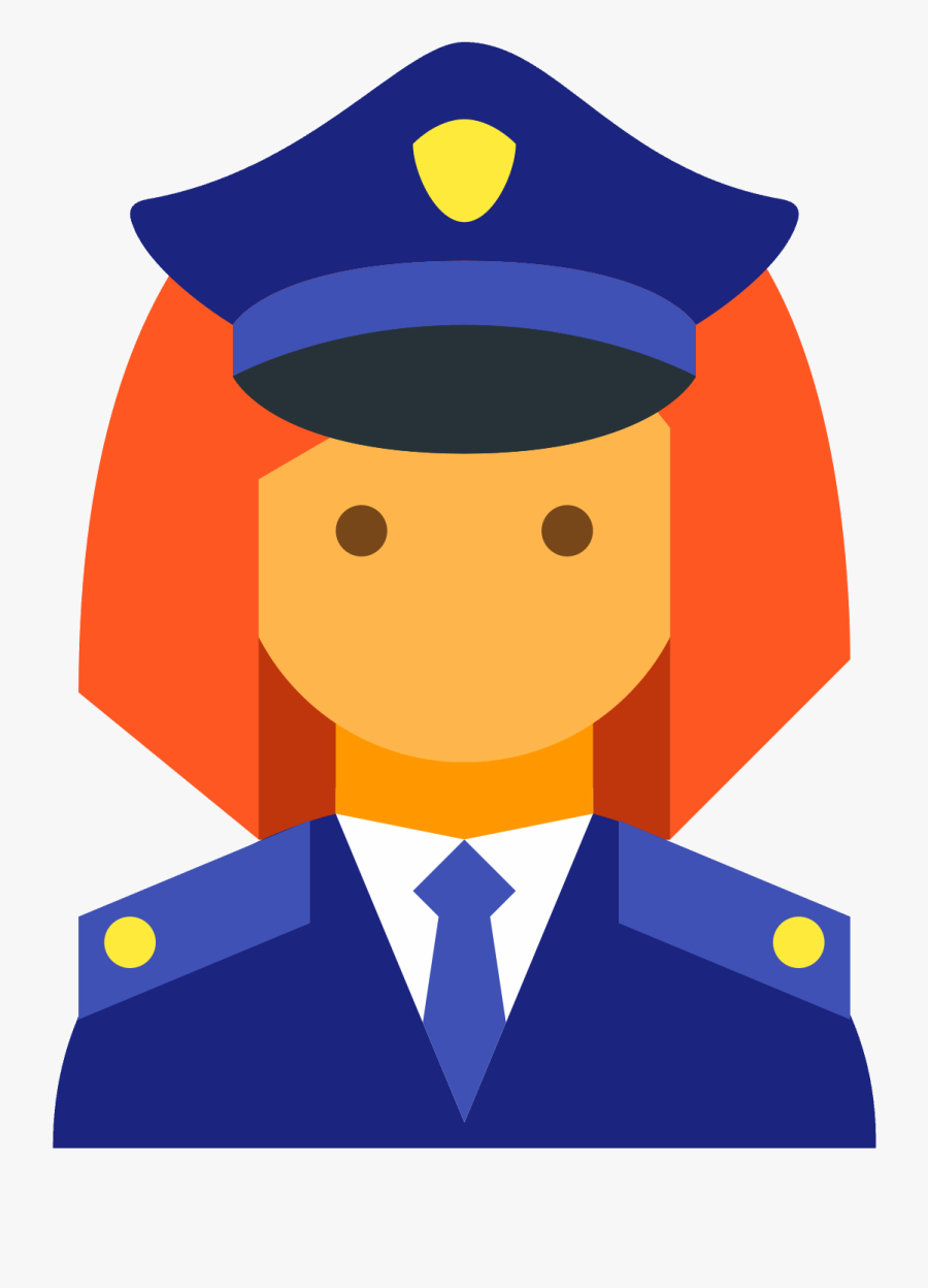 Policeman Female Icon - Policia Imagen Vector Png, Transparent Clipart