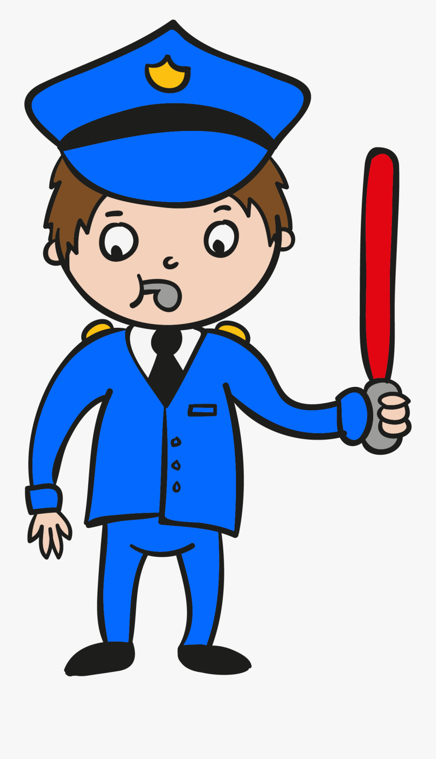 Cartoon Police Officer - Police Officer Cartoon, Transparent Clipart