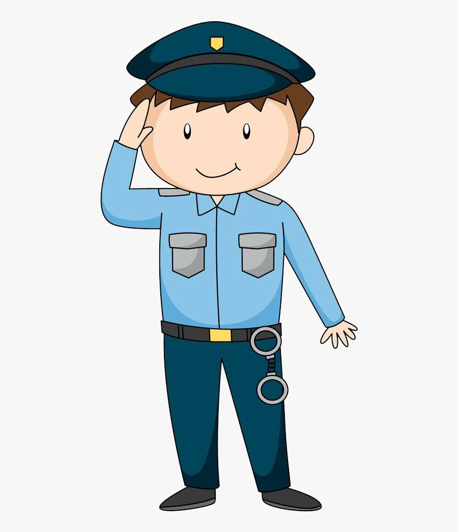 Clipart Library Police Officer Royalty Free - Cartoon Picture Of Cop, Transparent Clipart