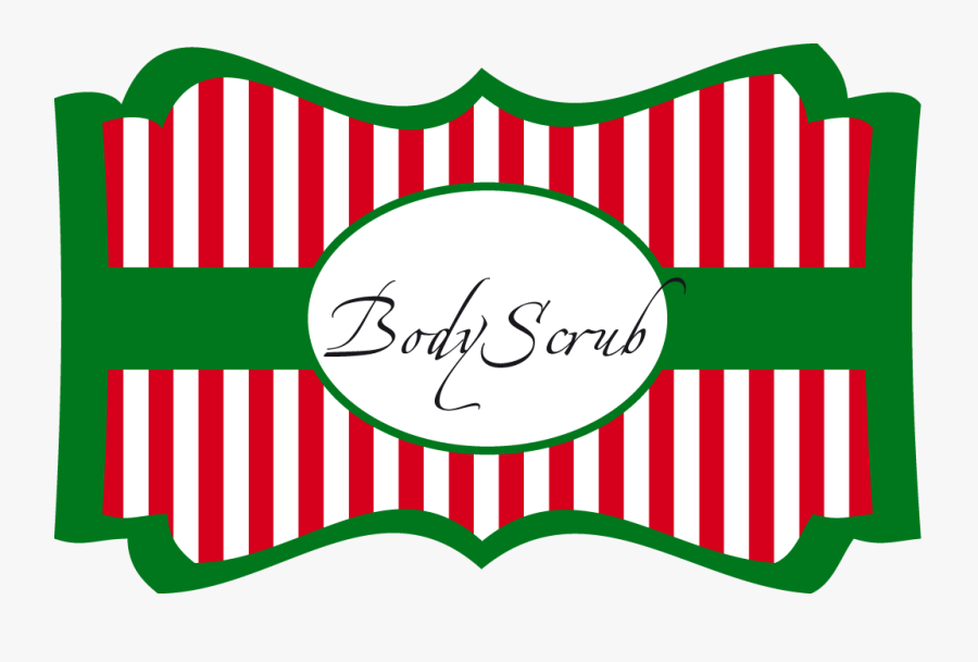 Sugar Scrub Labels For Christmas Fun For Christmas - Label Christmas Free Png, Transparent Clipart