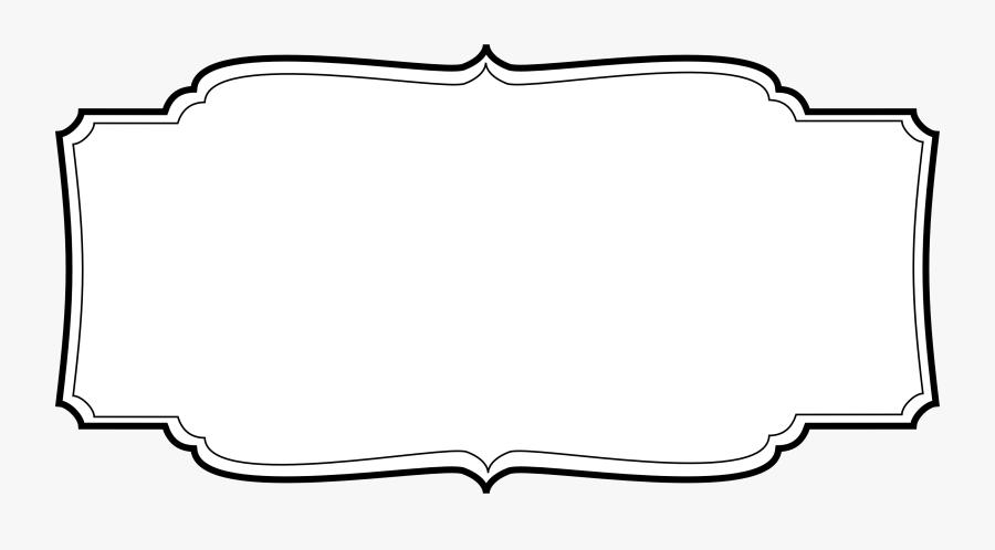 Label Frame Vector Png - Labels Vintage Vector Png, Transparent Clipart