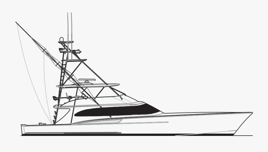 28 Collection Of Sport Fishing Boat Drawing - Game Fishing Boat Drawing, Transparent Clipart