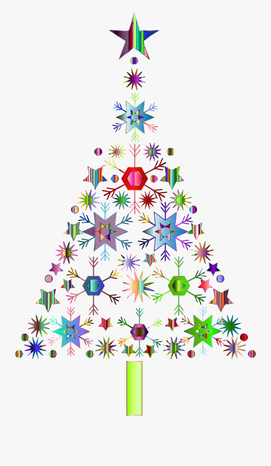 Abstract Clip Library - Christmas Tree Graphic Png, Transparent Clipart