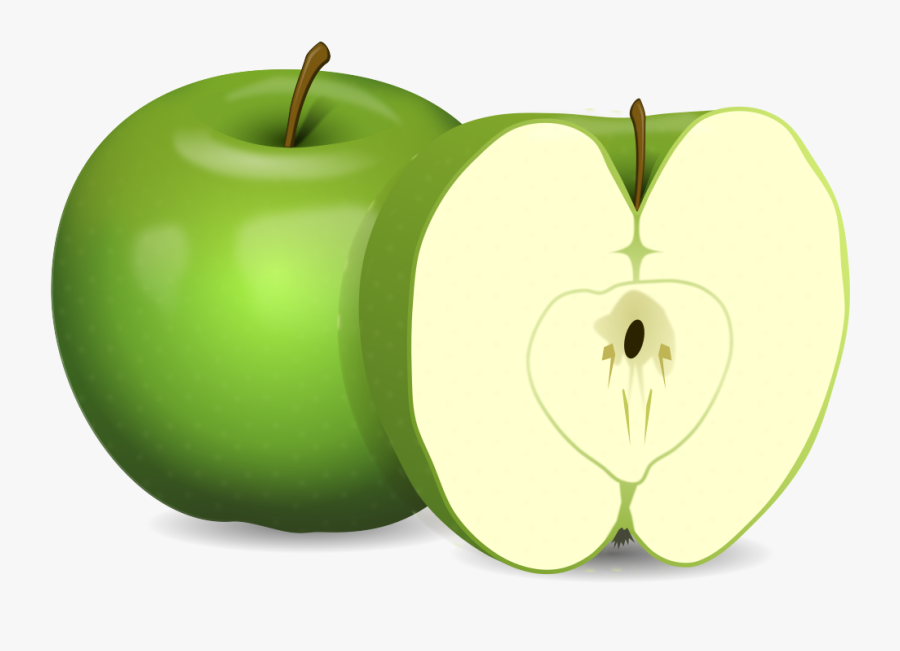 Apples Clipart Png - Transparent Background Green Apple Clipart, Transparent Clipart