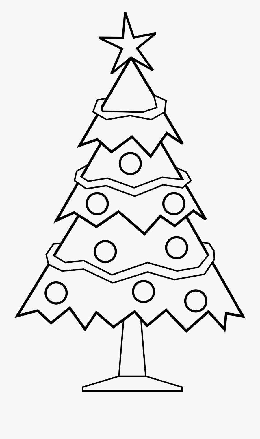 Thumb Image - Xmas Tree Clipart Black And White, Transparent Clipart