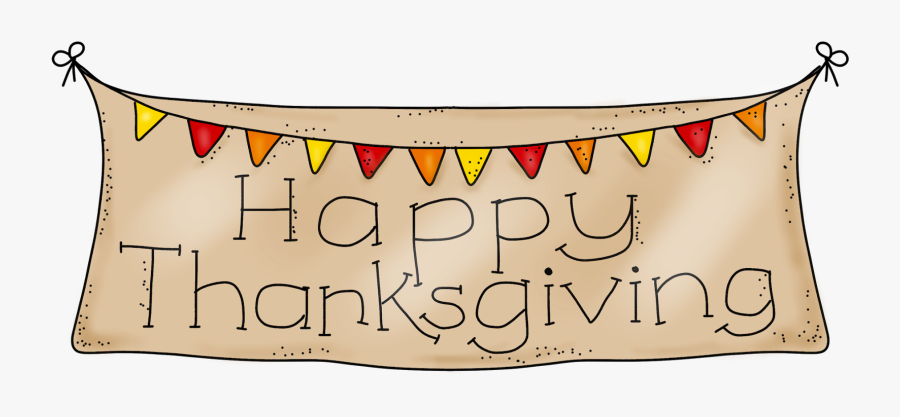 Happy Thanksgiving Clip Art Clipart Photo - Thanksgiving Banner Clip Art, Transparent Clipart