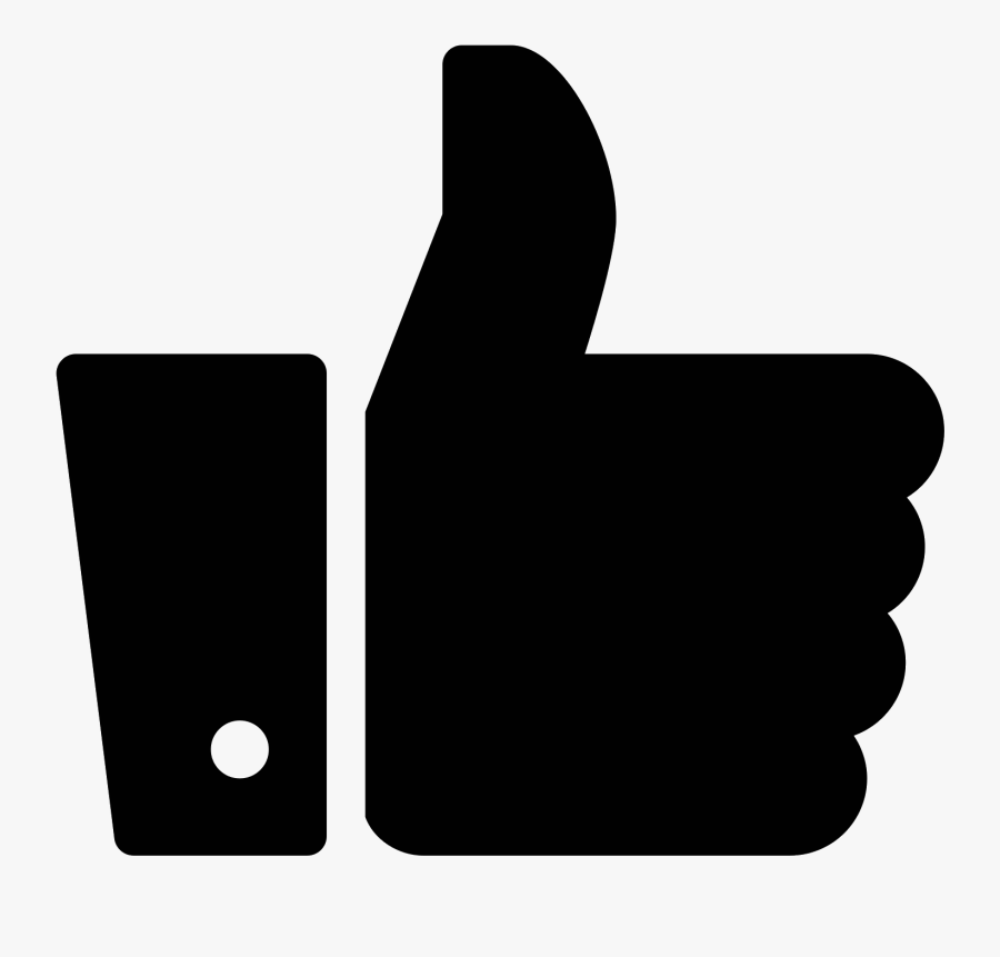 Button Computer Facebook Like Icons Free Clipart Hq - Like Facebook Icon Black, Transparent Clipart