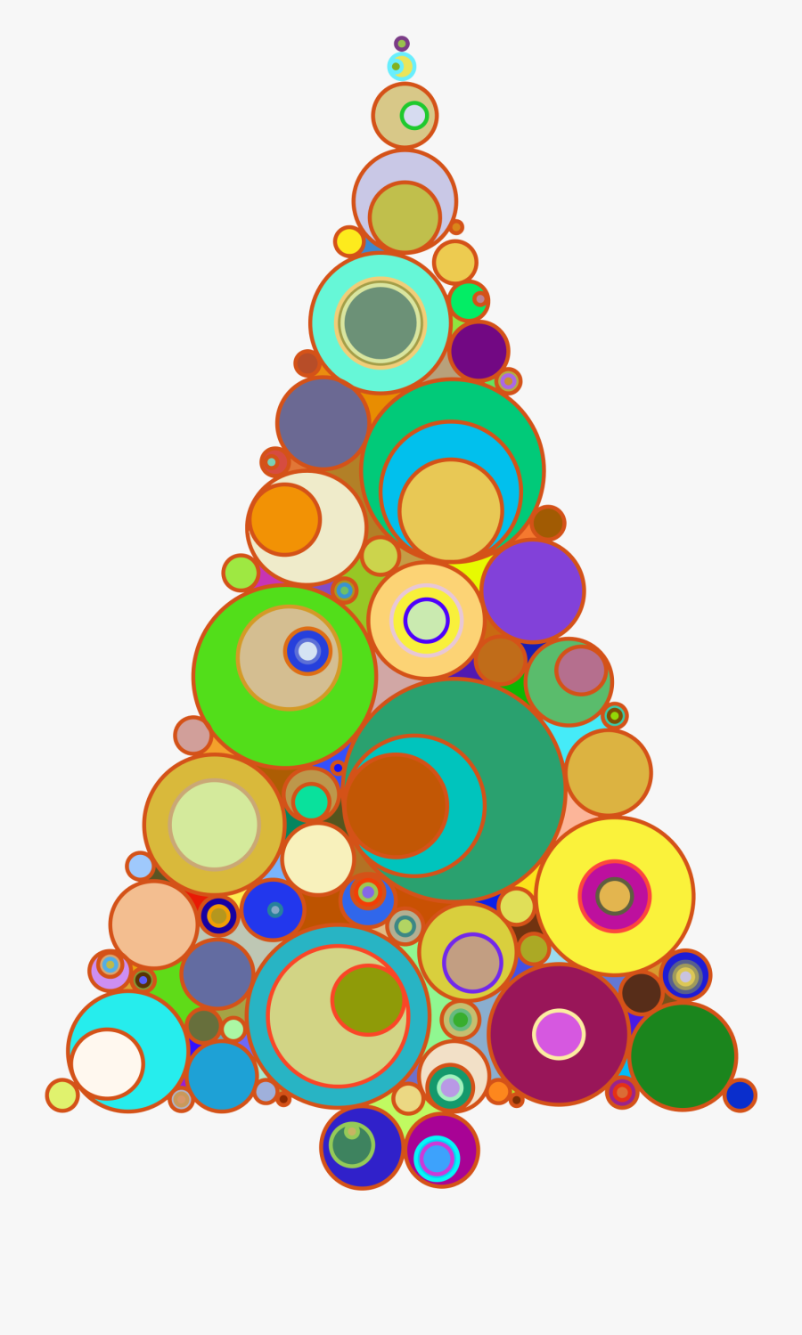 Christmas Tree Clipart Colorful Clipart Abstract Christmas