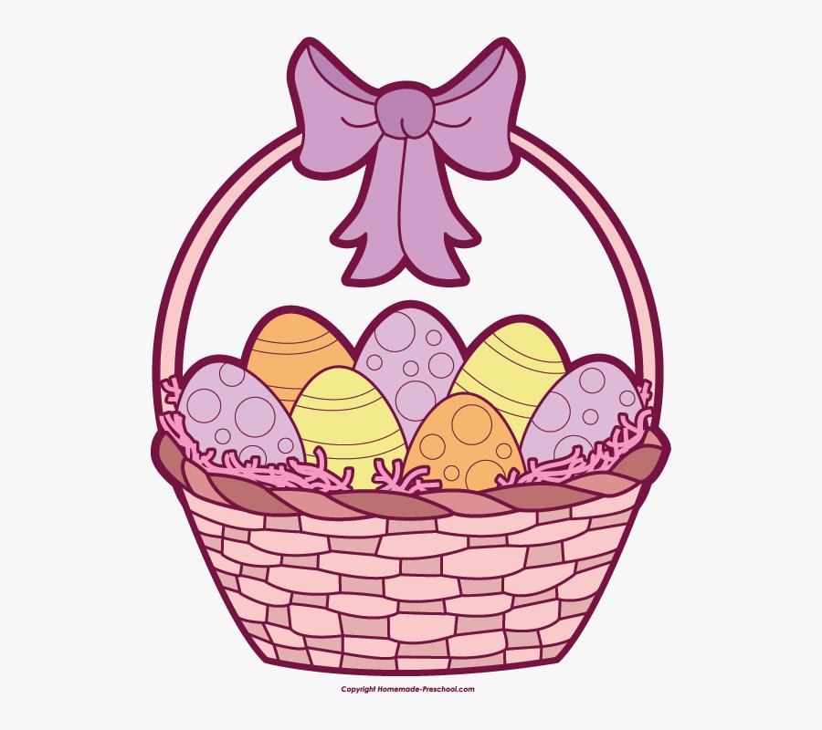 Clip Art Easter Basket, Transparent Clipart