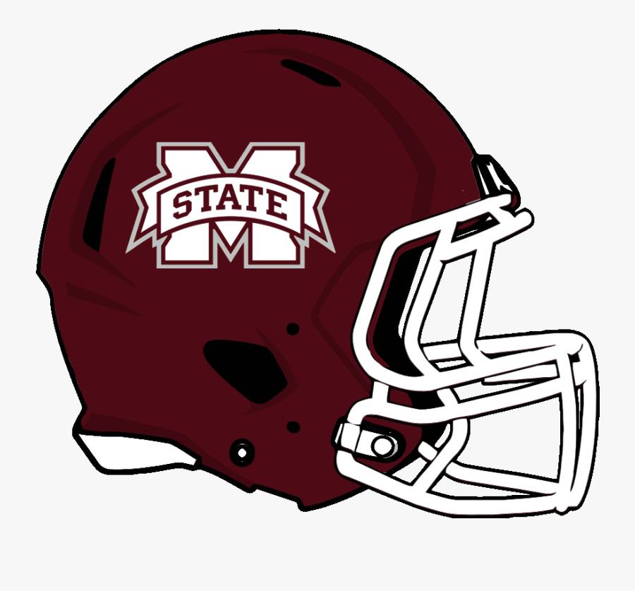 Mississippi State Football Clipart - Mississippi State Bulldogs Football Helmet, Transparent Clipart