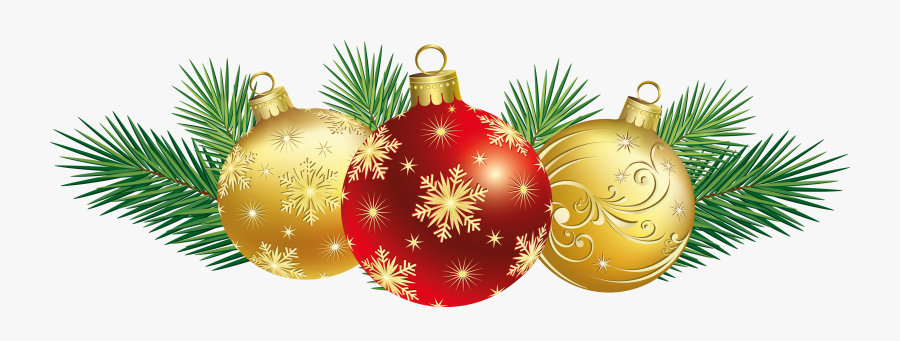 Christmas Clip Art Balls - Christmas Decorations Clipart, Transparent Clipart