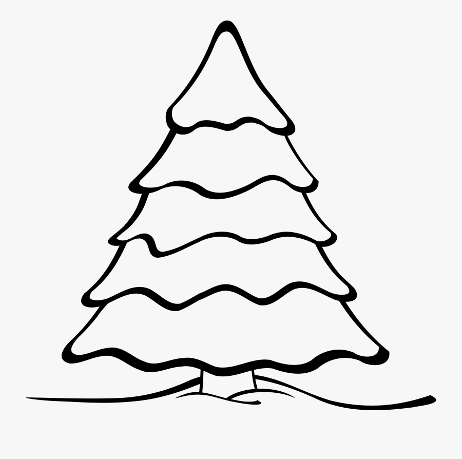 Christmas Tree Clipart - Colouring Page Of Christmas Tree, Transparent Clipart