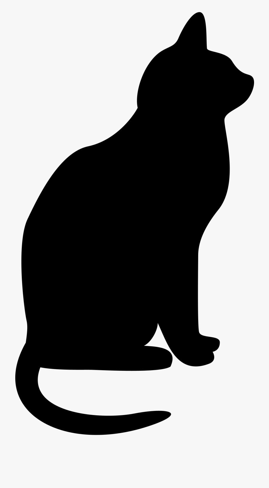 Black Cat Cats Clipart Silhouette Clip Art Transparent - Silhouette Black Cat Clipart, Transparent Clipart