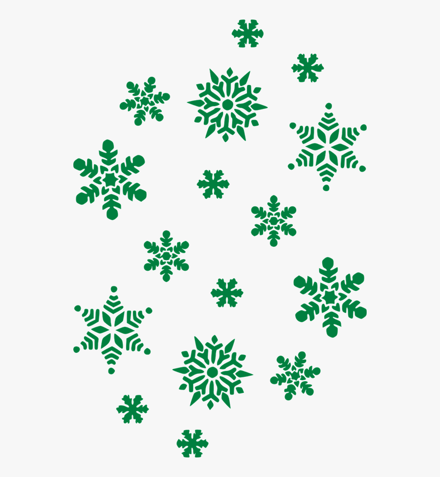 28 Collection Of Green Snowflake Clipart Transparent - Green Snowflake Clipart, Transparent Clipart