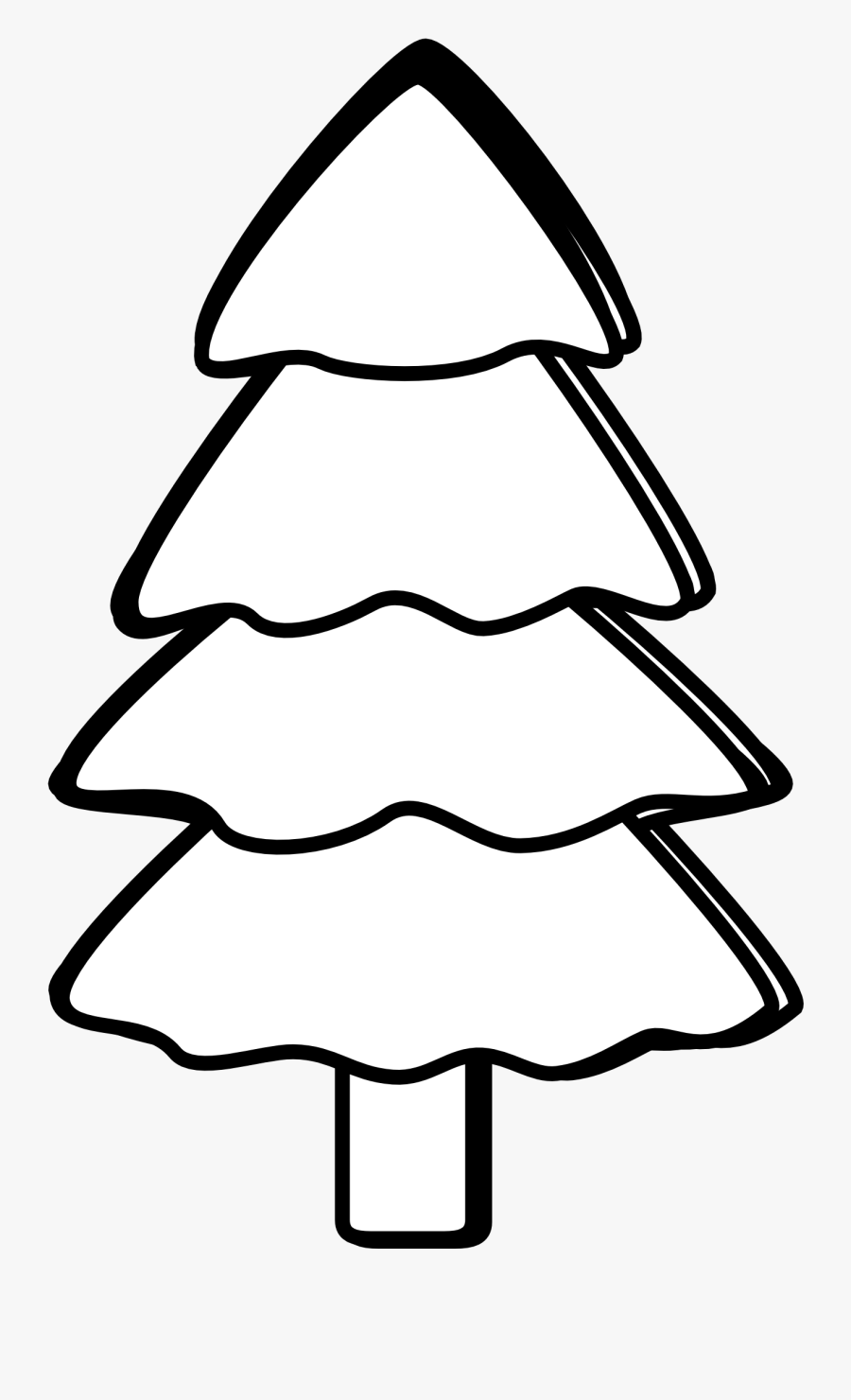Black And White Christmas Tree Clipart Free - Tree Picture Clip Art Black And White, Transparent Clipart