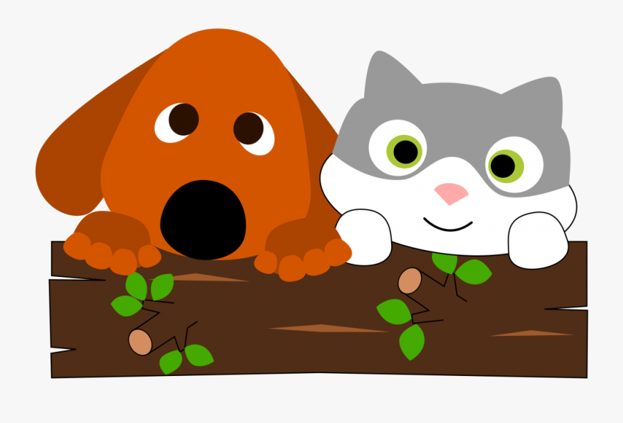 Dog And Cat Clipart Cats And Dogs Free Pictures On - Cartoon Dog And Cat, Transparent Clipart