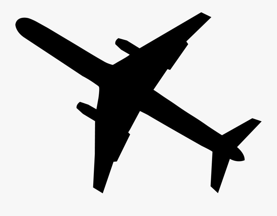 Black Airplane Silhouette - Airplane Clip Art, Transparent Clipart