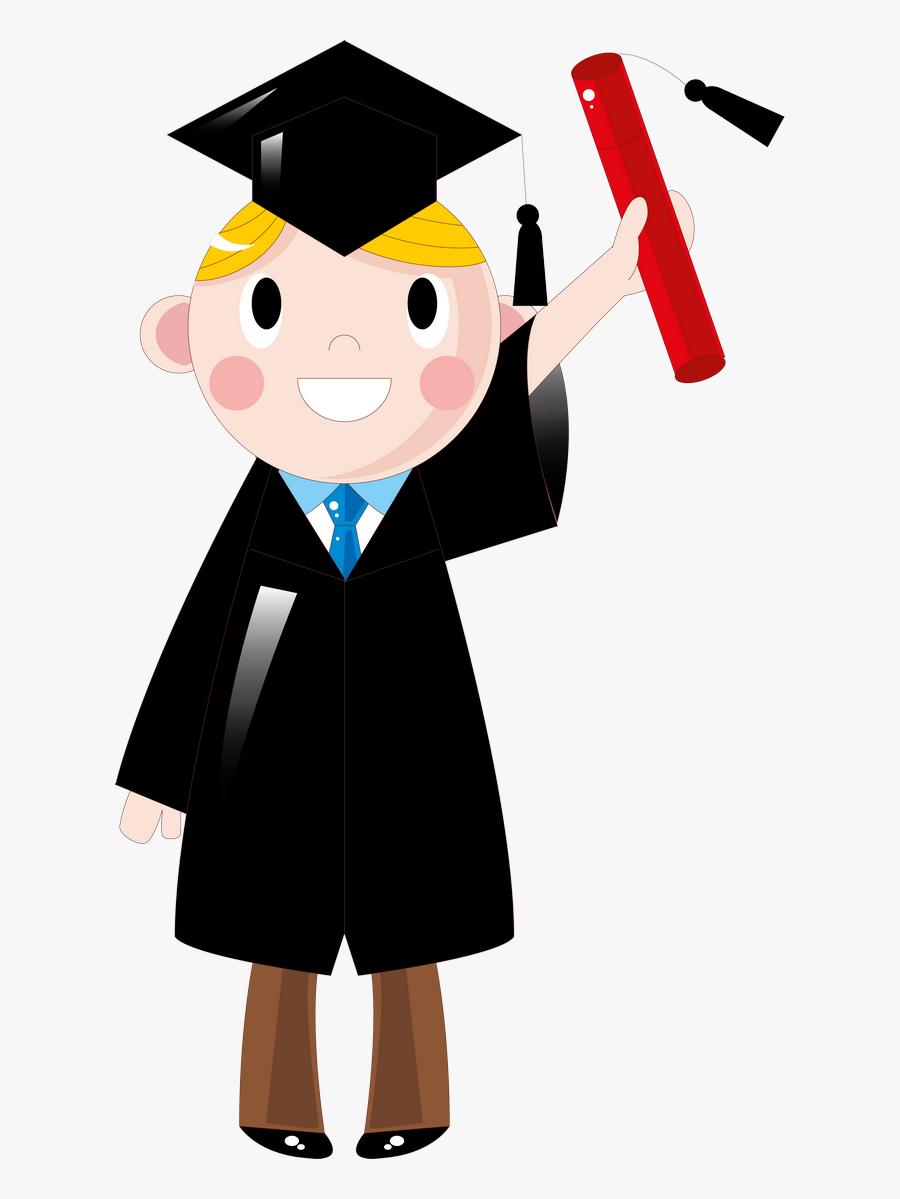 Clip Art Graduate Image - Cartoon Student, Transparent Clipart