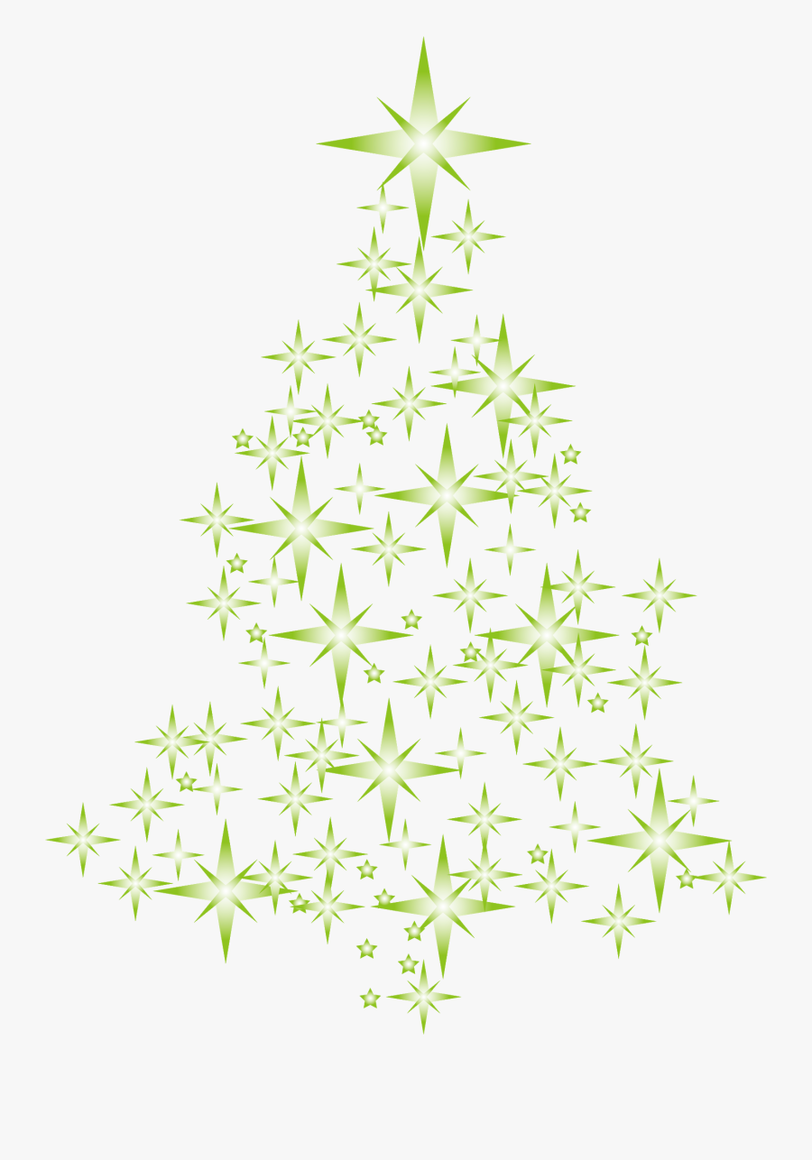 Christmas Tree Clipart, Creative Christmas Trees, Star - Abstract Christmas Tree Star Png, Transparent Clipart