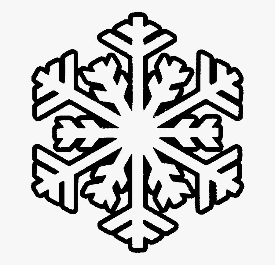 Snowflake Clipart Printable - Snowflake Coloring Sheets, Transparent Clipart