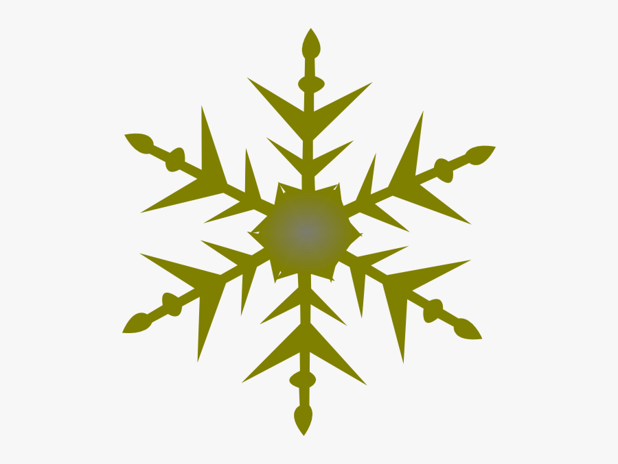 Solid Snowflake Clipart - Simple Snowflake Svg Free, Transparent Clipart