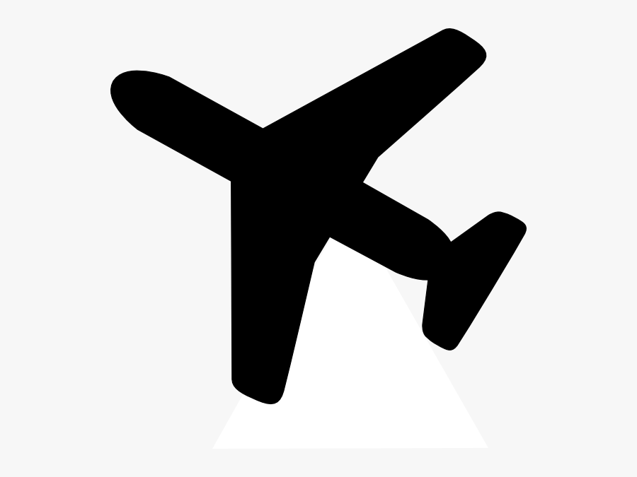Small Black Airplane Clipart - Transparent Background Aircraft Clipart, Transparent Clipart