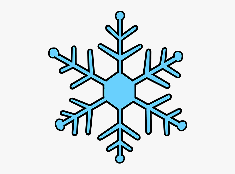Snowflake Clipart Colorful Snowflakes - Step By Step Snowflake Drawing Easy, Transparent Clipart