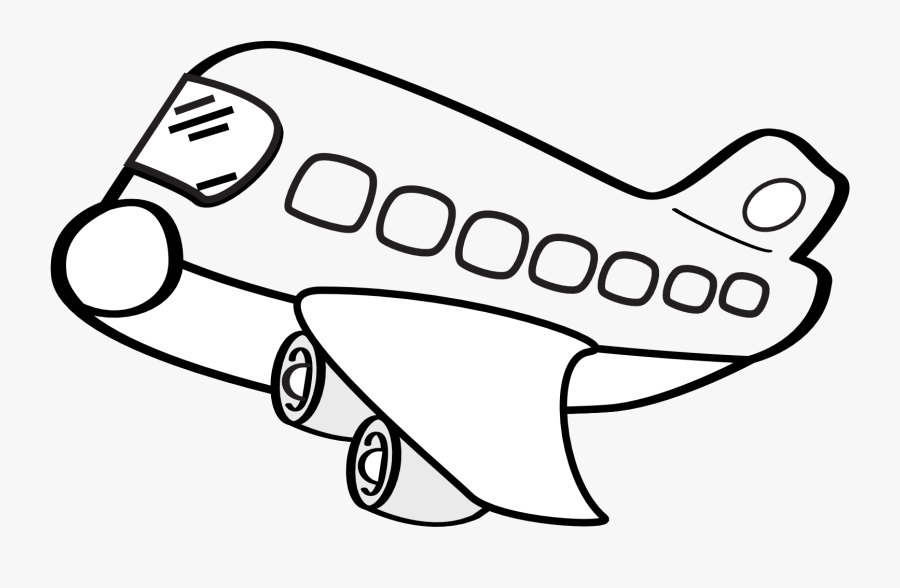 Airplane Clip Art Black And White Clipart Free Clipart - Airplane Clipart Black And White, Transparent Clipart