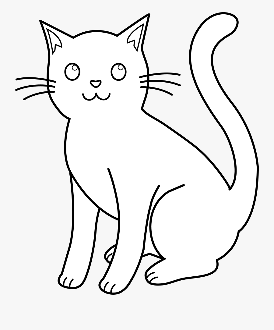 Cat Clipart White - Cat Clipart Black N White , Free ...