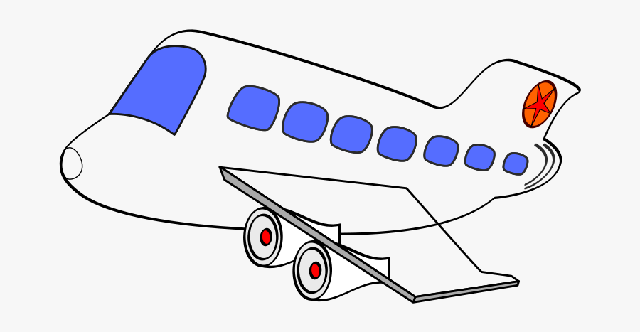 Clip Art Free Airplane Png Download - Cartoon Transparent Background Airplane, Transparent Clipart