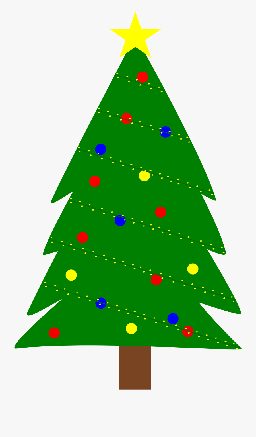 Triangle Christmas Tree Clipart, Transparent Clipart