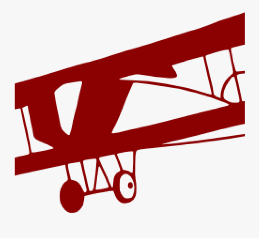 Airplane Clipart Red - Transparent Background Vintage Airplane Clipart, Transparent Clipart