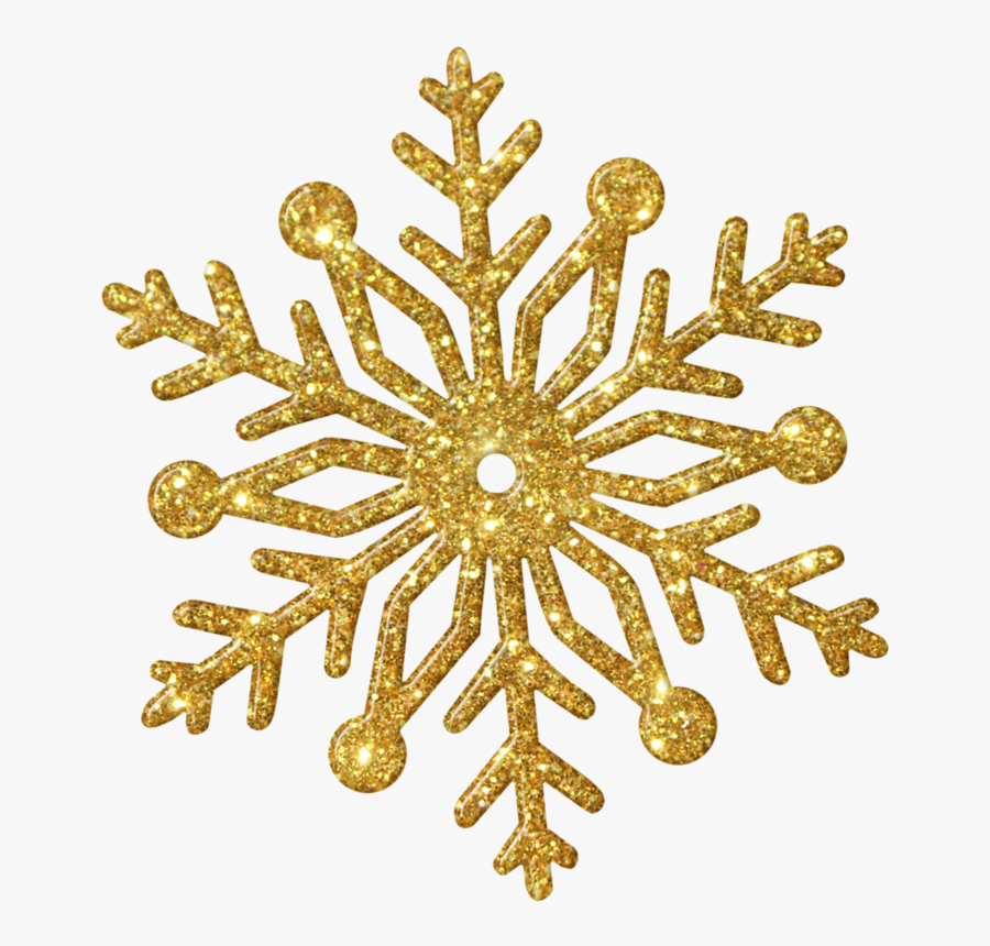 Snowflake Clip Art - Gold Snowflake Transparent Background, Transparent Clipart
