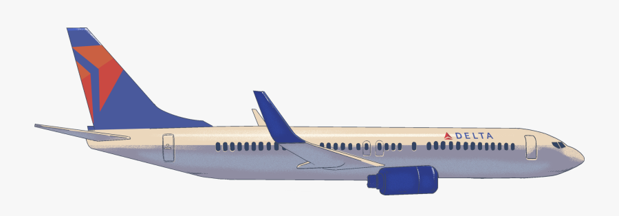 Delta - Delta Airplane Png, Transparent Clipart
