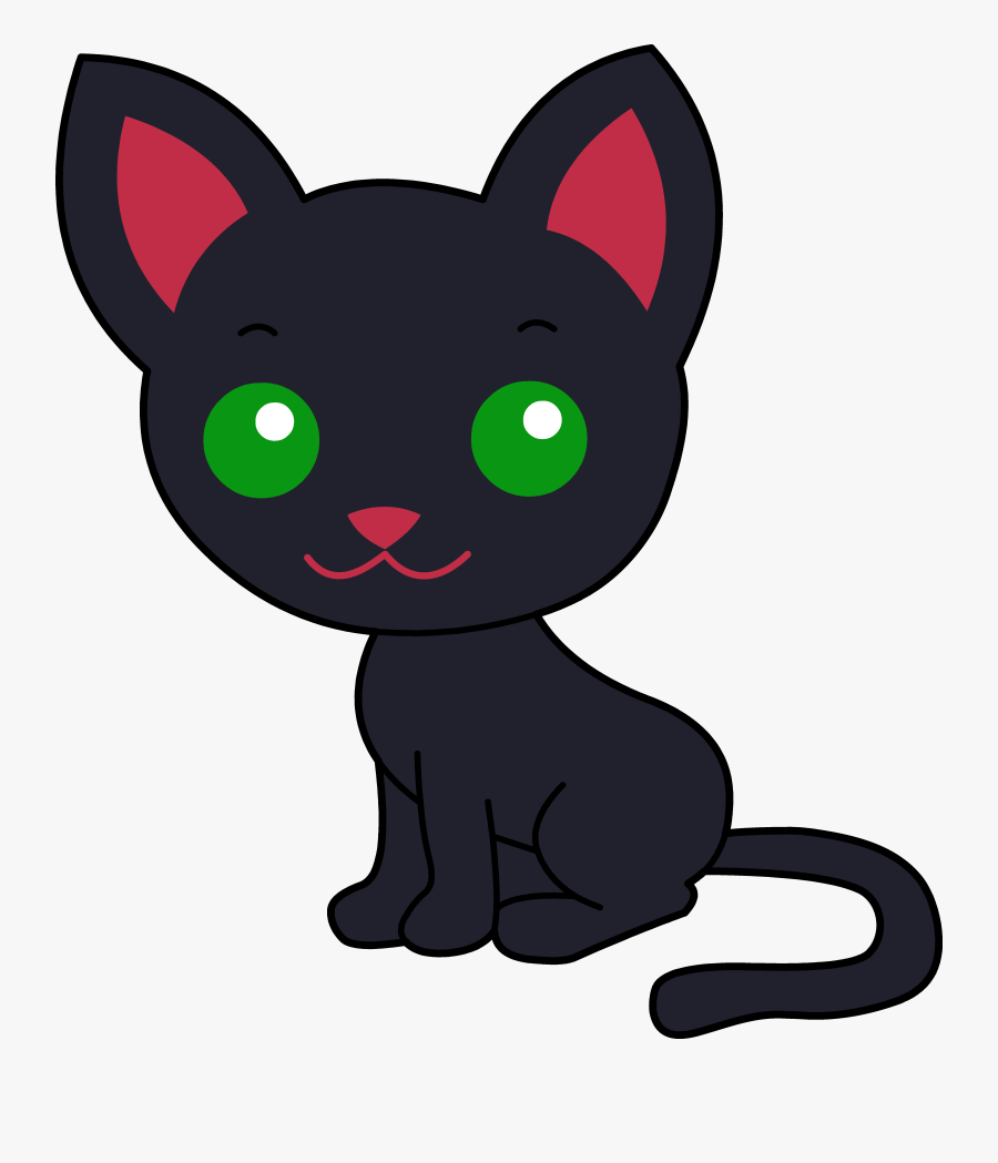 Cute Black Kitty Free - Kitty Cat Clip Art, Transparent Clipart