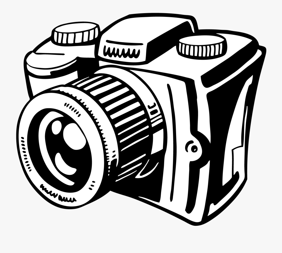 Camera Clipart License Not For Commercial Use In Other - Camera Black And White, Transparent Clipart