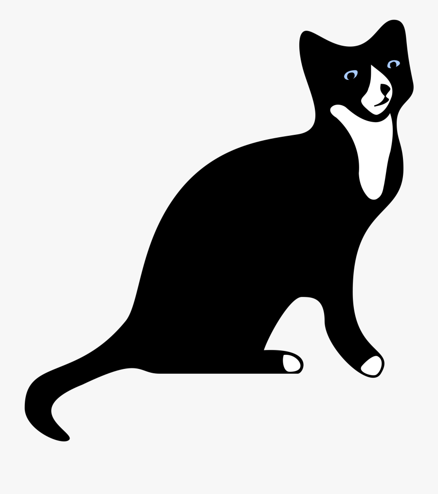 Clip Art Cat Clipart Silhouette - Black And White Silhouette Cats Png, Transparent Clipart