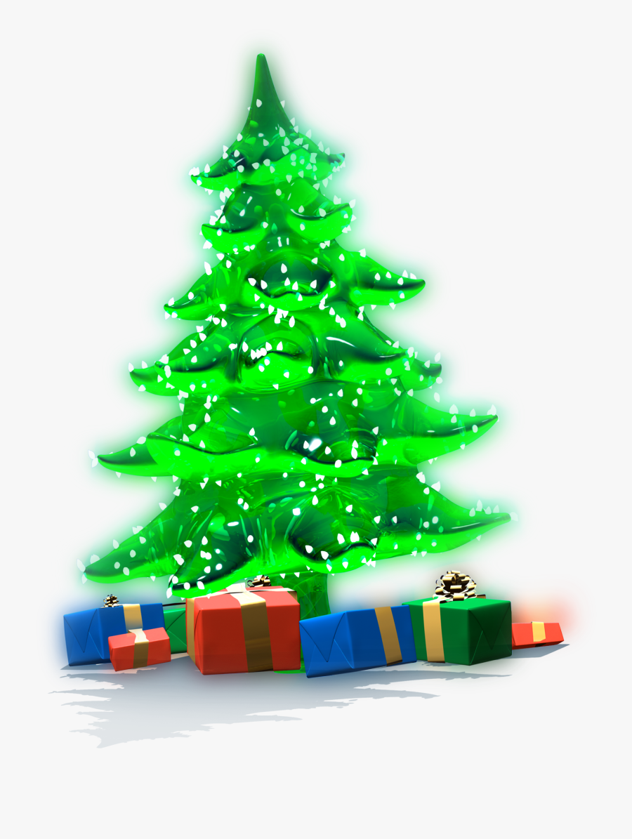 Luminous Christmas Tree With Gifts Png Clipart - Gifts Under Christmas Tree Png, Transparent Clipart