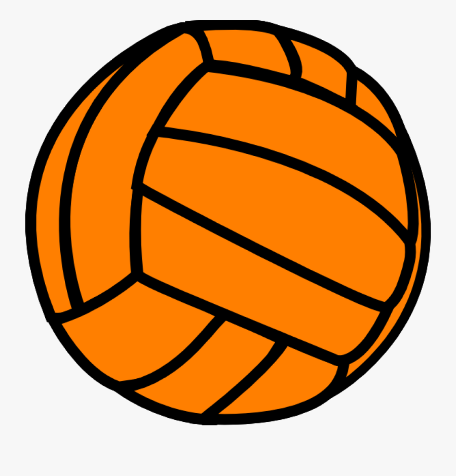 Orange Volleyball Clip Art - Clip Art Green Volleyball, Transparent Clipart